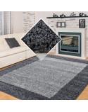 Hochflor Langflor Wohnzimmer Shaggy Teppich 2 Farbig Florhöhe 3cm Grau Hellgrau
