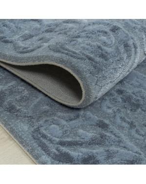 Kuschelig weicher Supersoft Shaggy Extreme weich für Wohnzimmer-Schlafzimmer-Kinderzimmer.Unifarbe Unifarbe Grey