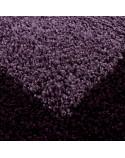 Hochflor Langflor Wohnzimmer Shaggy Teppich 2 Farbig Florhöhe 3cm Lila Violett