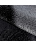 Moderner Designer Wohnzimmer Teppich Parma 9240 Schwarz