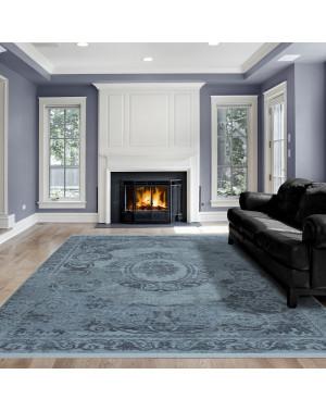 Hochwertiger Moderner Designer Wohnzimmer Teppich Empera Taboo E1301 Blau
