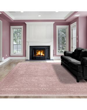 Hochwertiger Moderner Designer Wohnzimmer Teppich Empera Taboo E1302 Puderrosa