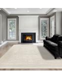 Hochwertiger Moderner Designer Wohnzimmer Teppich Empera Taboo E1302 Creme