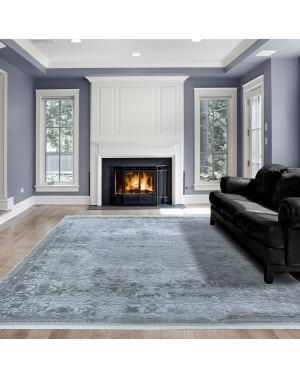 Hochwertiger Moderner Designer Wohnzimmer Teppich Empera Taboo E1303 Blau