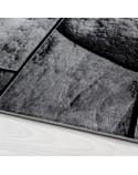 Moderner Designer Wohnzimmer Teppich mit Steinmotiv PARMA 9250 Schwarz-Grau