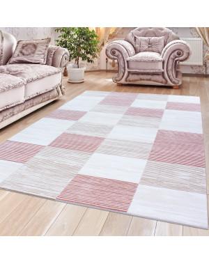 Hochwertiger Moderner Designer Wohnzimmer Teppich Empera Lavinia E1203 Pink