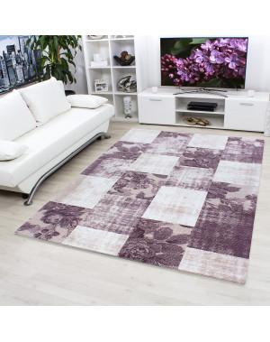 Hochwertiger Moderner Designer Wohnzimmer Teppich Empera Lavinia E1206 Violett