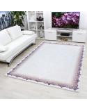 Hochwertiger Moderner Designer Wohnzimmer Teppich Empera Lavinia E1204 Violett