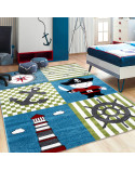 Children's carpet, kids room carpet with designs pirate ship Kids 0450 Multi