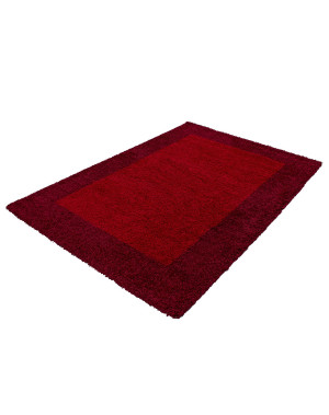 Shaggy pile living room Shaggy carpet, 2-tone Red and Bordeaux