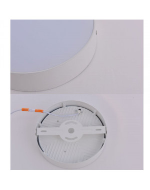 LED Panel ceiling Basic White build - up spot - ceiling - spot-light Modern - and-White(24W-warm white)