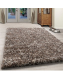Living Room Shaggy Carpet Mottled High-Quality White Long Pile Shaggy Grey