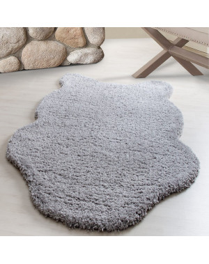 Structure À Fibres Longues Salon Tapis Unifarbe Light Grey