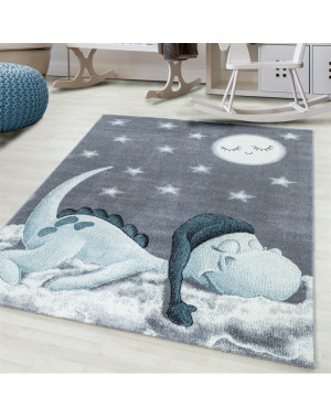 Children's carpet, kids room carpet 3D motif Dino