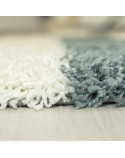 Shaggy pile living room Shaggy carpet pile height 3cm-grey-White-turquoise